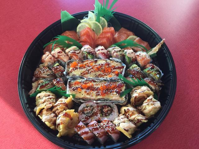 Salmon Sashimi and Roll Platter.jpg