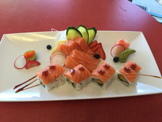 Salmon Sashimi and Specialty Roll