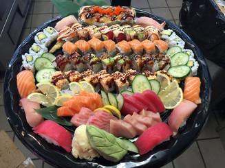Sashimi, Nigiri, and Roll Platter