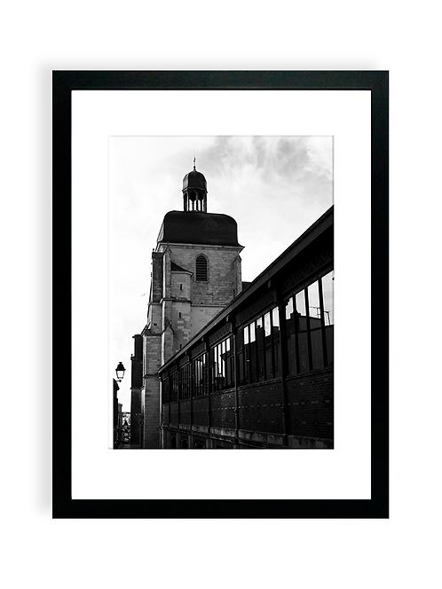 Affiche Photo - Église Notre-Dame-de-Bon-Port et Halles - Les Sables D'Olonne