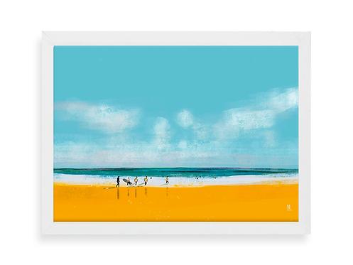 Affiche Noémie Labrosse - Surf aux Sables d'Olonne
