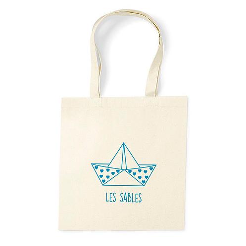 Tote Bag Coton Bio - Origami - Les Sables