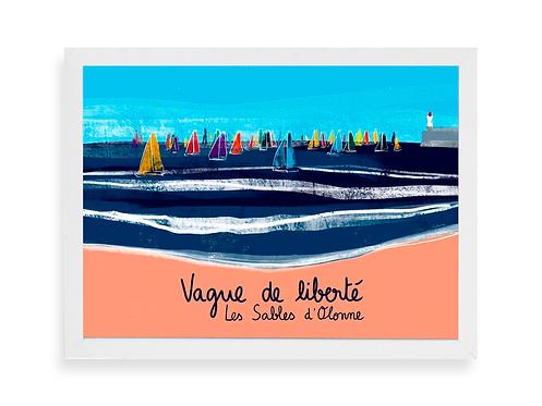 Affiche Noémie Labrosse - Vague de liberté, les Sables d'Olonne