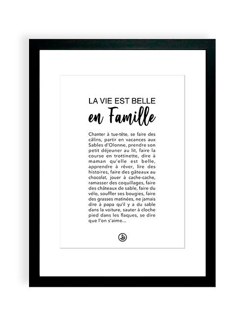 300 Pixels - Affiche La Vie est belle en Famille