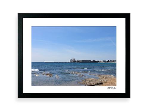 300 Pixels - Affiche Photo - Bord de mer aux Sables d'Olonne - NB