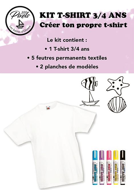 Kit T-shirt avec Feutre textile permanent
