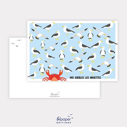 Carte Postale - Vos gueules les Mouettes