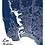 300 Pixels - Affiche - Collection Bellemap - Plan des Sables d'Olonne