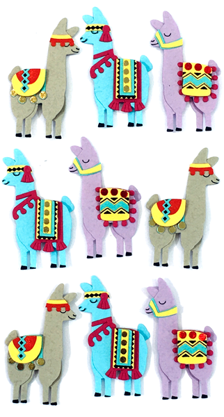 Stickers Artwork 3D - Lama