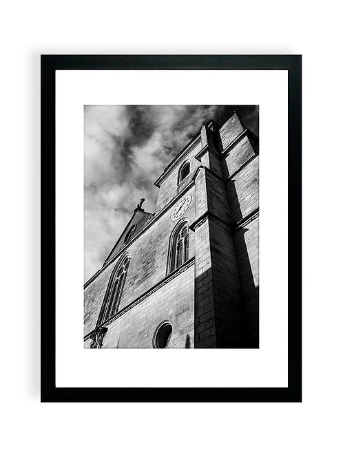 Affiche Photo - Église Notre-Dame-de-Bon-Port- Les Sables D'Olonne- Cadre Noir