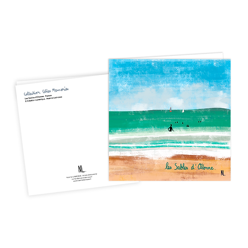 Carte Postale - Les Sables d'Olonne - La grande plage