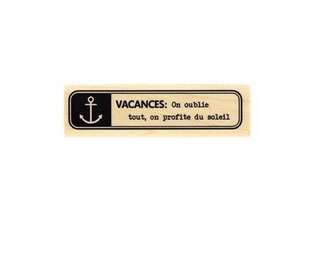 Tampon Vacances Marin
