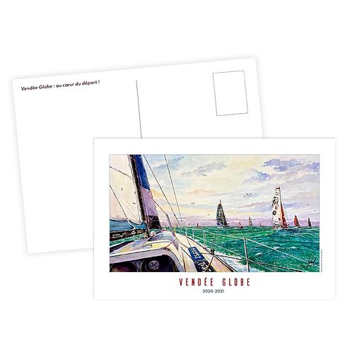 Carte Postale - Vendée Globe, au cœur du départ - JP Duboil