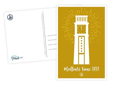 Lot de 5 Cartes Postales - Meilleurs voeux, La Pendule, les Sables d'Olonne