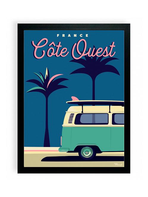 Affiche Marcel Travel Poster - Côte Ouest Van