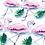 Stickers Artwork 3D - Flamant Rose