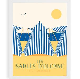 Affiche Bain de mer aux Sables d'Olonne