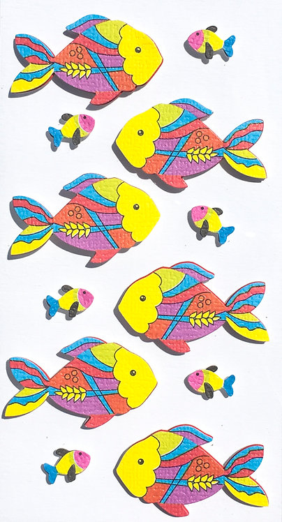 Stickers Artwork 3D - Poissons 2