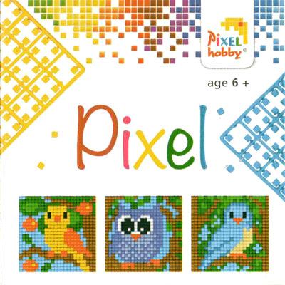 Pixel Art - Pixel Hobby Triptyque Oiseaux
