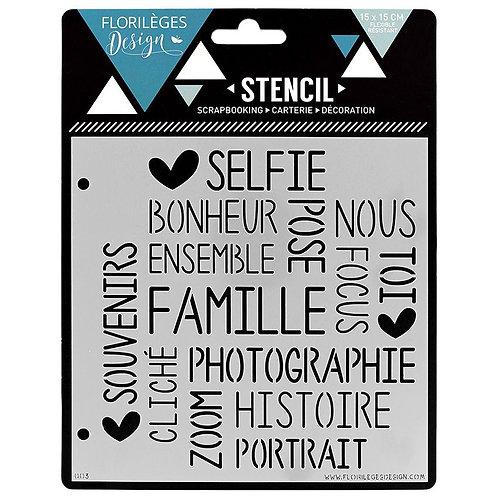 Pochoir Selfie, bonheur, ensemble, famille, souvenirs...