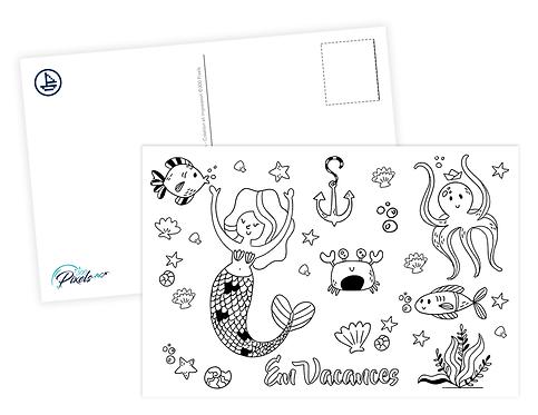 300 PIXELS - Carte à colorier - Vie Marine 2