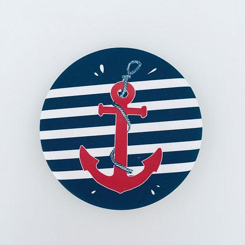 Magnet - Bord de mer - Ancre rouge