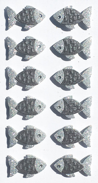 Stickers Artwork 3D - Poissons 3