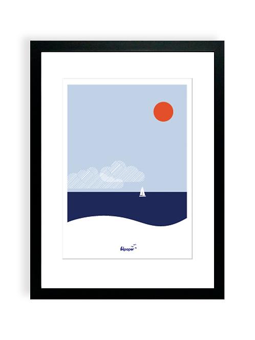 Affiche Bilpaper - Au large