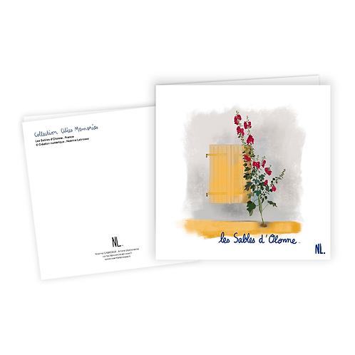 Carte Postale - Les Sables d'Olonne - Les roses trémières