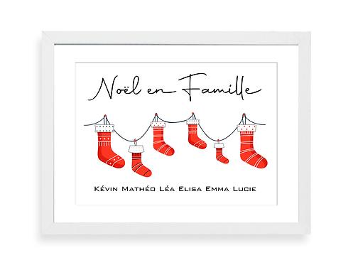 Mon affiche de Noël personnalisée