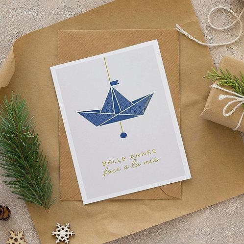BILPAPER - Carte Postale - Belle année face à la mer