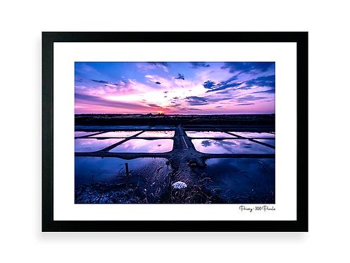 300 Pixels Affiche Photo - Coll. Prissy - L'île d'Olonne, marais salants