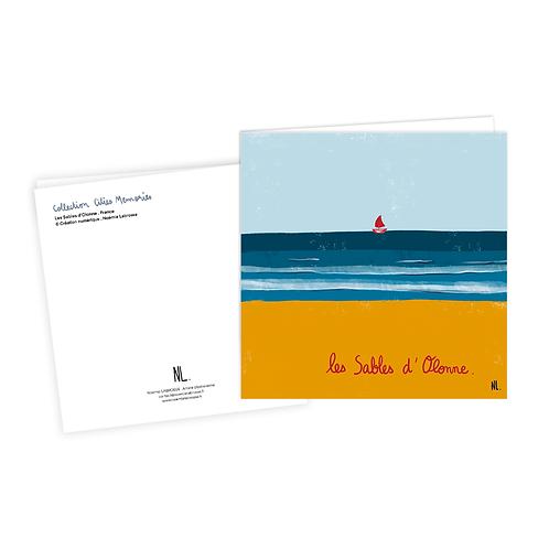 Carte Postale - Les Sables d'Olonne - Le bateau rouge