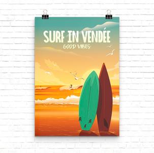 300 PIXELS Poster Affiche La Vendée