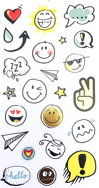 Stickers Notebook - Emoticônes