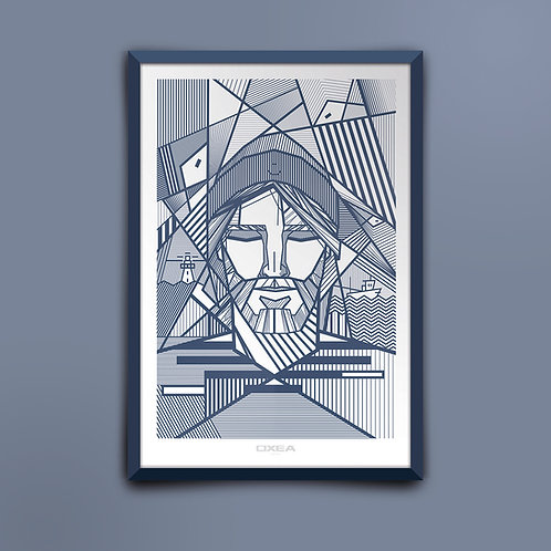 300 Pixels - Affiche - Collection OXEA - ARRANTZALE