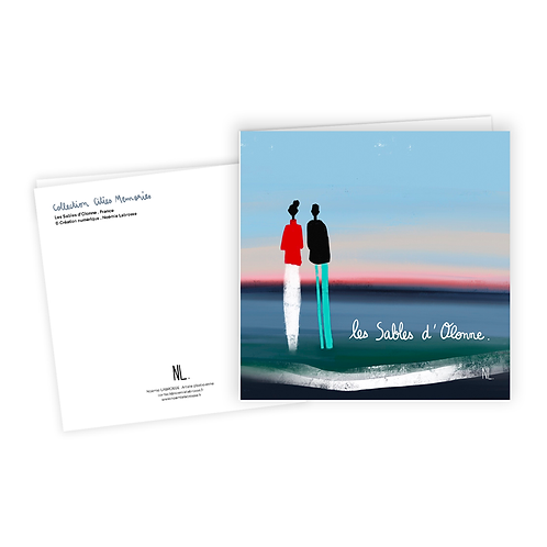 Carte Postale - Couple aux Sables d'Olonne