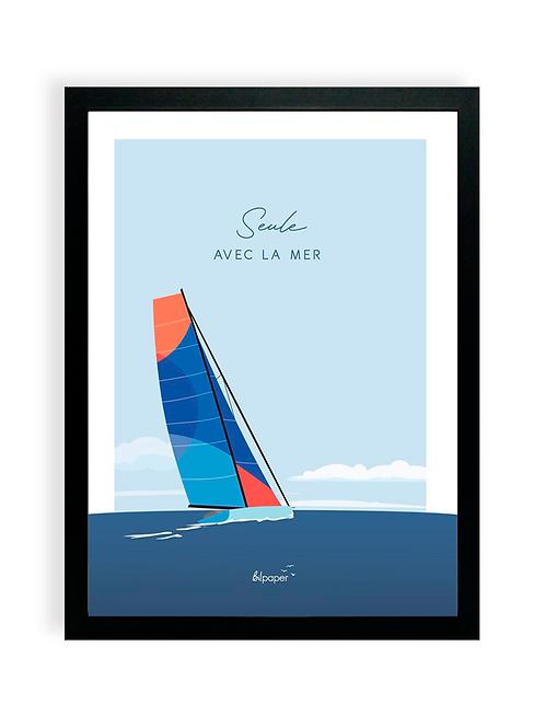 Affiche - Les Sables d'Olonne, seule avec la mer