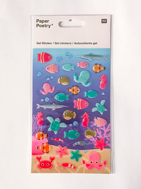 Stickers Gel Poissons