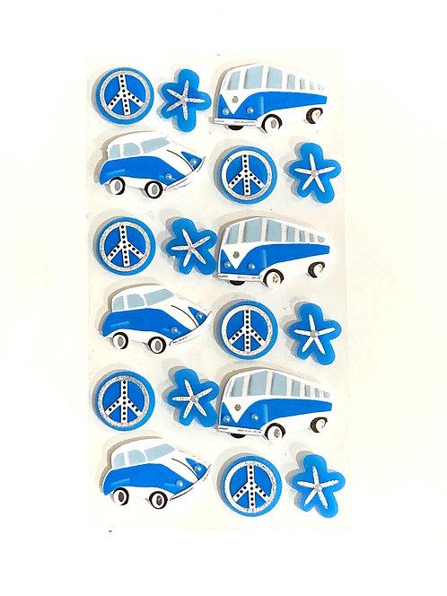 Stickers Artwork 3D - Mini Bus