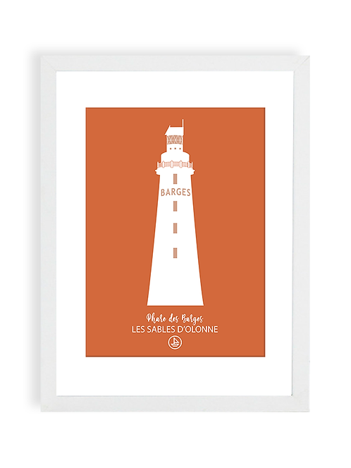 300 Pixels - Affiche Le Phare des barges - Les Sables d'Olonne