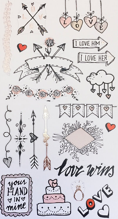 Stickers Notebook - Love