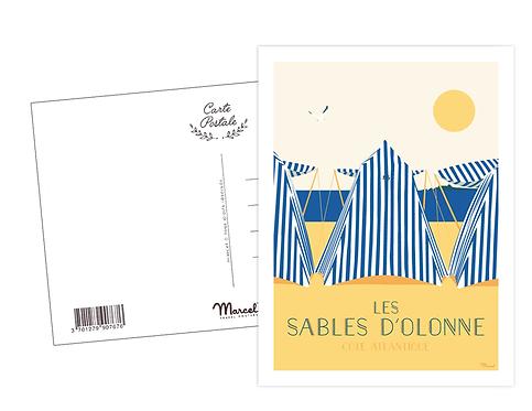 Carte Postale Marcel - Les Tentes aux Sables d'Olonne