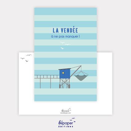 Carte Postale Bilpaper - La Vendée à ne pas manquer