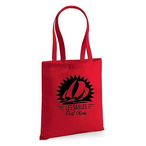 Tote Bag Rouge Coton Bio - Port Olona Les Sables - Vendée Globe 2020