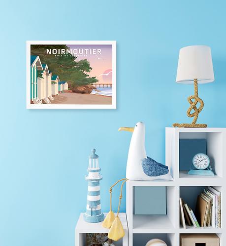 Affiche Bois de la chaise à Noirmoutier