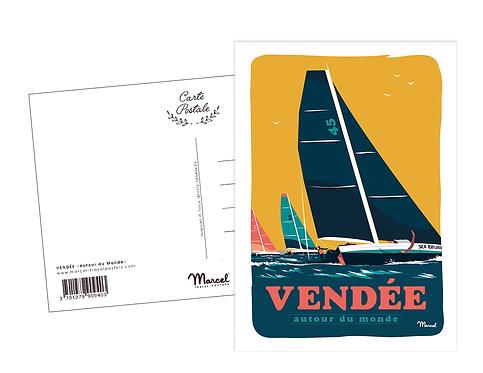 Carte Postale Marcel - Vendée Autour du monde