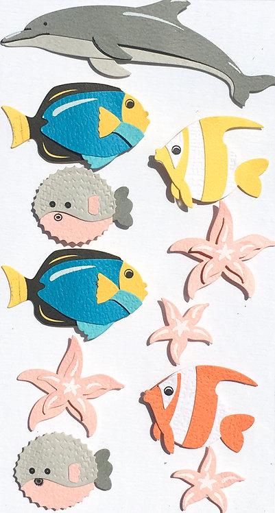 Stickers Artwork 3D - Animaux de la Mer 2