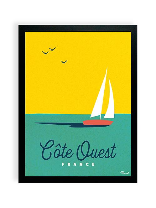 Affiche Marcel - Côte Ouest boat