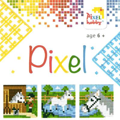 Pixel Art - Pixel Hobby Triptyque Cheval